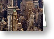 Landscapes Greeting Cards - New York City Urban Landscape Greeting Card by Vivienne Gucwa