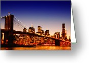 New York State Greeting Cards - New York Cityscape Greeting Card by ©jesuscm