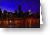 River Pastels Greeting Cards - New York Colors Greeting Card by Stefan Kuhn