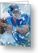 Eli Manning Greeting Cards - New York Giants Artwork Greeting Card by Robert Joyner