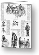 Rabbi Greeting Cards - New York: Immigrants, 1891 Greeting Card by Granger