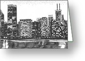 Cities Greeting Cards - New York Greeting Card by Jo Anna McGinnis
