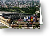Citi Field Greeting Cards - New York Mets CitiField Greeting Card by Ms Judi