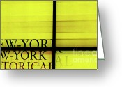 Urbano Greeting Cards - New York New York Greeting Card by adSpice Studios