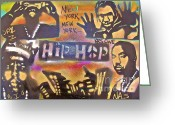 Sit-ins Painting Greeting Cards - New York New York Greeting Card by Tony B Conscious