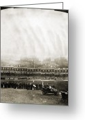 Pennant Greeting Cards - New York: Polo Grounds Greeting Card by Granger