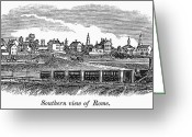 Erie Barge Canal Greeting Cards - New York: Rome, 1842 Greeting Card by Granger