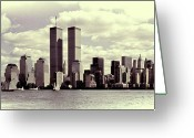 Al-qaeda Greeting Cards - New York Skyline Greeting Card by Gerry Walden