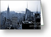 The Rocks Greeting Cards - New York Skyline Greeting Card by Thomas Splietker