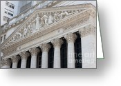 Trading Greeting Cards - New York Stock Exchange I Greeting Card by Clarence Holmes