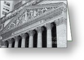 Trading Greeting Cards - New York Stock Exchange II Greeting Card by Clarence Holmes