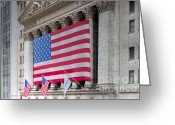 Trading Greeting Cards - New York Stock Exchange III Greeting Card by Clarence Holmes