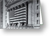 Trading Greeting Cards - New York Stock Exchange IV Greeting Card by Clarence Holmes