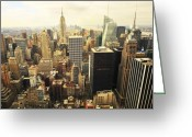 Blue Blocks Greeting Cards - New York Greeting Card by Svetlana Sewell