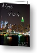 Concrete Greeting Cards - New York Greeting Card by Syed Aqueel