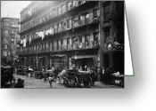 Vendor Greeting Cards - New York: Tenements, 1912 Greeting Card by Granger