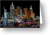 Nv Greeting Cards - New York Vegas Style Greeting Card by James Heckt
