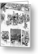Wash Board Greeting Cards - New York: Wash Day, 1889 Greeting Card by Granger