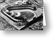 Parking Lot Greeting Cards - New York: Yankee Stadium Greeting Card by Granger