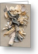 Shells Mixed Media Greeting Cards - New Zealand Opus 01 Greeting Card by Carol Zee