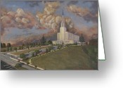 Jesus Painting Greeting Cards - New Zealand temple Greeting Card by Jeff Brimley