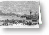 New Britain Greeting Cards - New Zealand Wars, 1864 Greeting Card by Granger