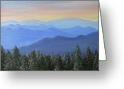 Dolly Parton Greeting Cards - Newfound Pass Great Smoky Mt National Park Greeting Card by Joan Swanson