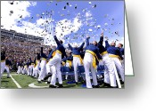 Cheering Greeting Cards - Newly Commissioned Second Lieutenants Greeting Card by Stocktrek Images
