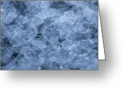 Ice-floe Greeting Cards - Newly Formed Sea Ice Forming Ice Floes Greeting Card by Colin Monteath