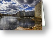 Old Mills Greeting Cards - Newmarket NH Greeting Card by Eric Gendron