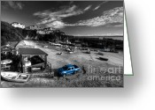 Ute Greeting Cards - Newquay Harbour  Pickup  Greeting Card by Rob Hawkins