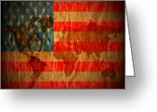 Love Framed Prints Framed Prints Prints Greeting Cards - News Media Stars Stripes Greeting Card by Jerry Cordeiro