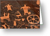 Ancient Art Greeting Cards - Newspaper Rock Close-up Greeting Card by Gary Whitton