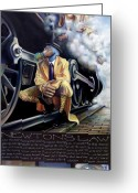 Steam Engine Greeting Cards - Newtons Law Greeting Card by Patrick Anthony Pierson