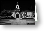 Town Hall Greeting Cards - Newtownards Town Hall And Conway Square County Down Northern Ireland  Greeting Card by Joe Fox