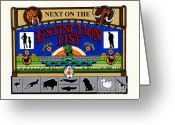 Extinction Greeting Cards - Next on the Extinction List Greeting Card by Keith QbNyc