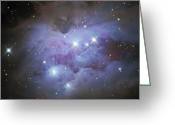 H Ii Regions Greeting Cards - Ngc 1977, An Emission Nebula In Orion Greeting Card by Don Goldman