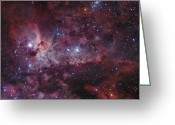 Twinkle Greeting Cards - Ngc 3372, The Eta Carinae Nebula Greeting Card by Robert Gendler