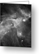 Interstellar Clouds Photo Greeting Cards - Ngc 346 And N66 In The Small Magellanic Greeting Card by Stocktrek Images