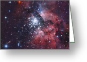 Twinkle Greeting Cards - Ngc 3603, A Giant H-ii Region Greeting Card by Robert Gendler