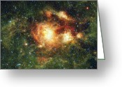 Star Clusters Greeting Cards - Ngc 3603, A Hot Young Star Cluster Greeting Card by Stocktrek Images