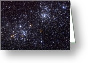 Star Clusters Greeting Cards - Ngc 884, An Open Cluster Greeting Card by Roth Ritter
