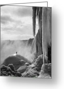 Mound Greeting Cards - Niagara Falls: Frozen Greeting Card by Granger