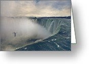 Seagull Photo Greeting Cards - Niagara Falls Greeting Card by Istvan Kadar Photography