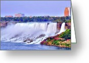 Forceful Greeting Cards - Niagara Falls Greeting Card by Kathleen Struckle