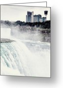 Grey Blue Greeting Cards - Niagara Falls Greeting Card by Lisa Russo