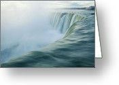 Splashing Greeting Cards - Niagara Falls Greeting Card by Photography by Yu Shu