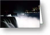 Dj Florek Greeting Cards - Niagara Night Greeting Card by DJ Florek