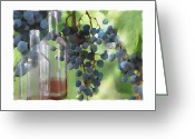 Vineyard Digital Art Greeting Cards - Niagara Peninsula Wine Country Greeting Card by Bob Salo