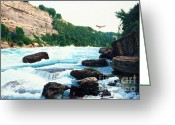 Photorealism Greeting Cards - Niagara River Catch Greeting Card by Don Evans